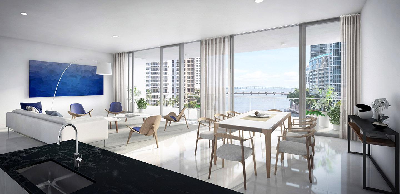 Aston Martin Residences - Downtown Miami - Living Room