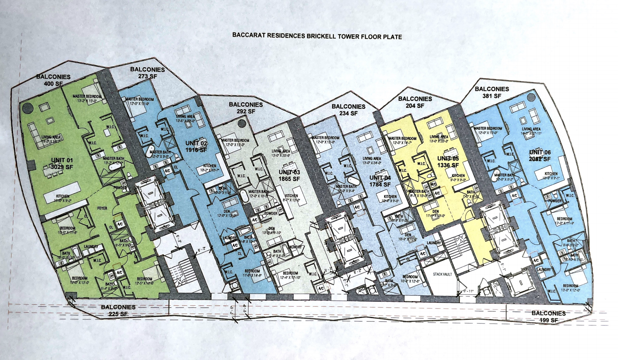 Key Floor Plan Baccarat Residences Miami
