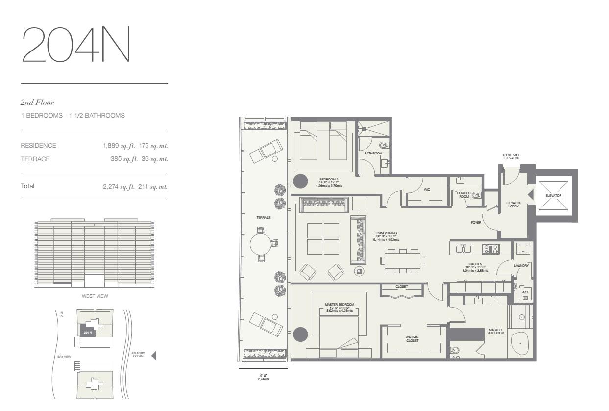 Oceana Bal Harbour Residence 204N