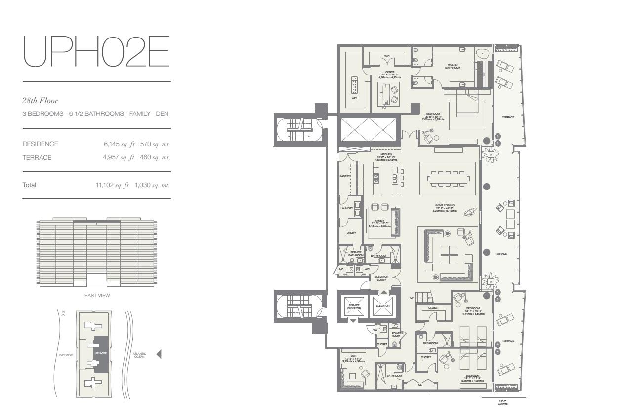 Oceana Bal Harbour Upper Penthouse 02E