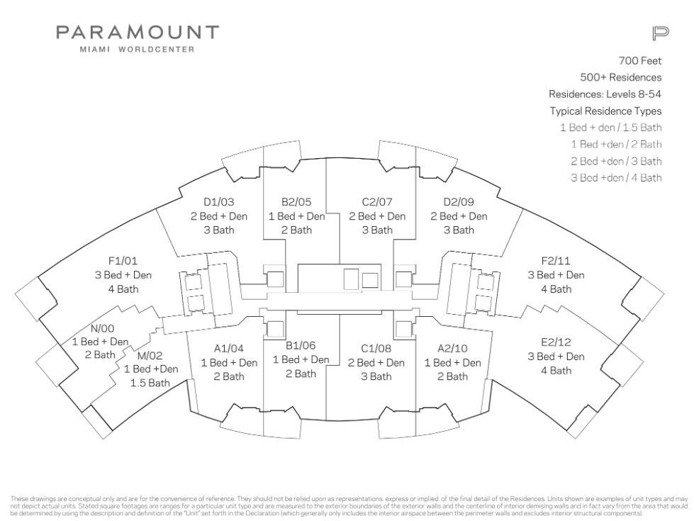 Paramount Miami Worldcenter Keyplate
