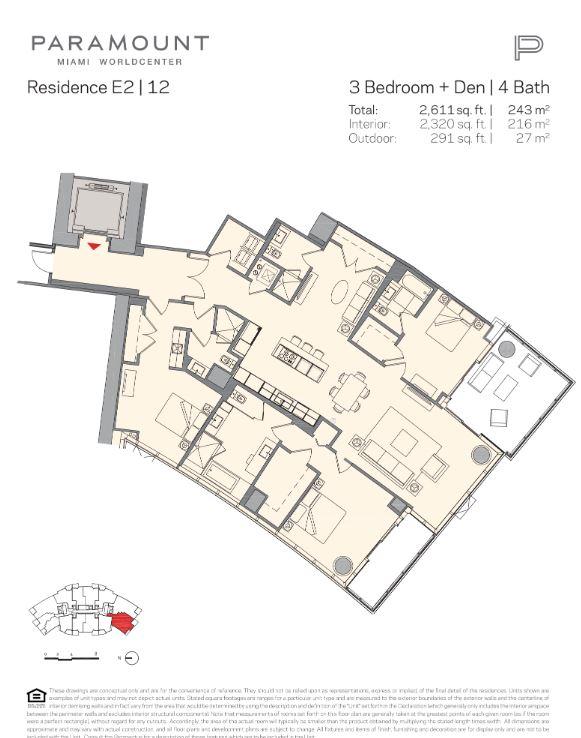 Paramount Miami Worldcenter Residence E2