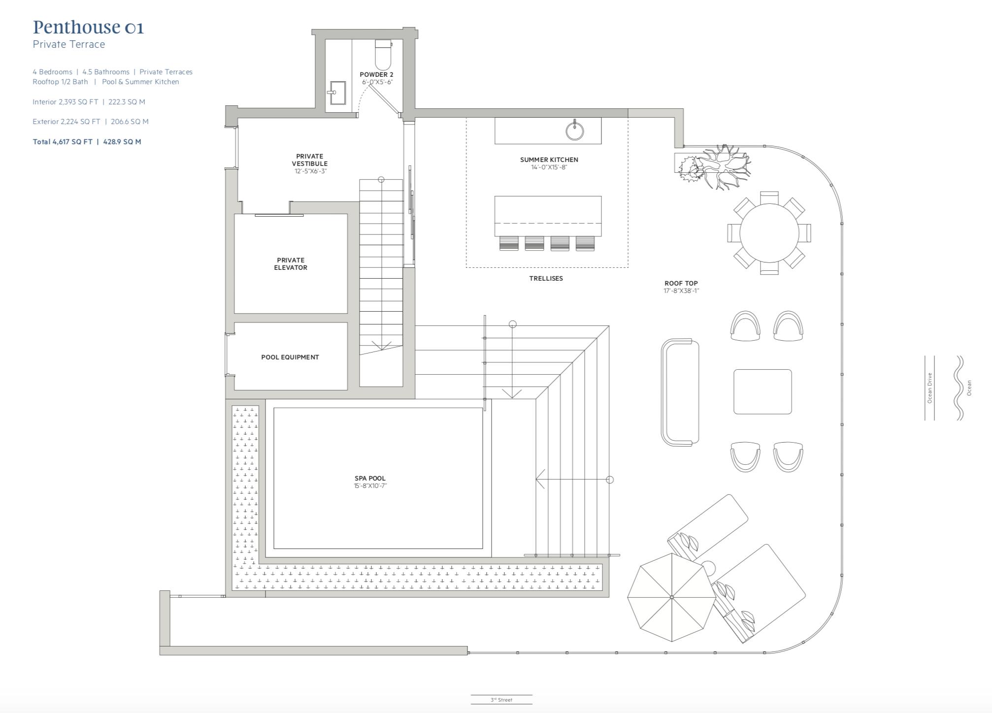 Ocean Park  -  Penthouse 01 rooftop terrace