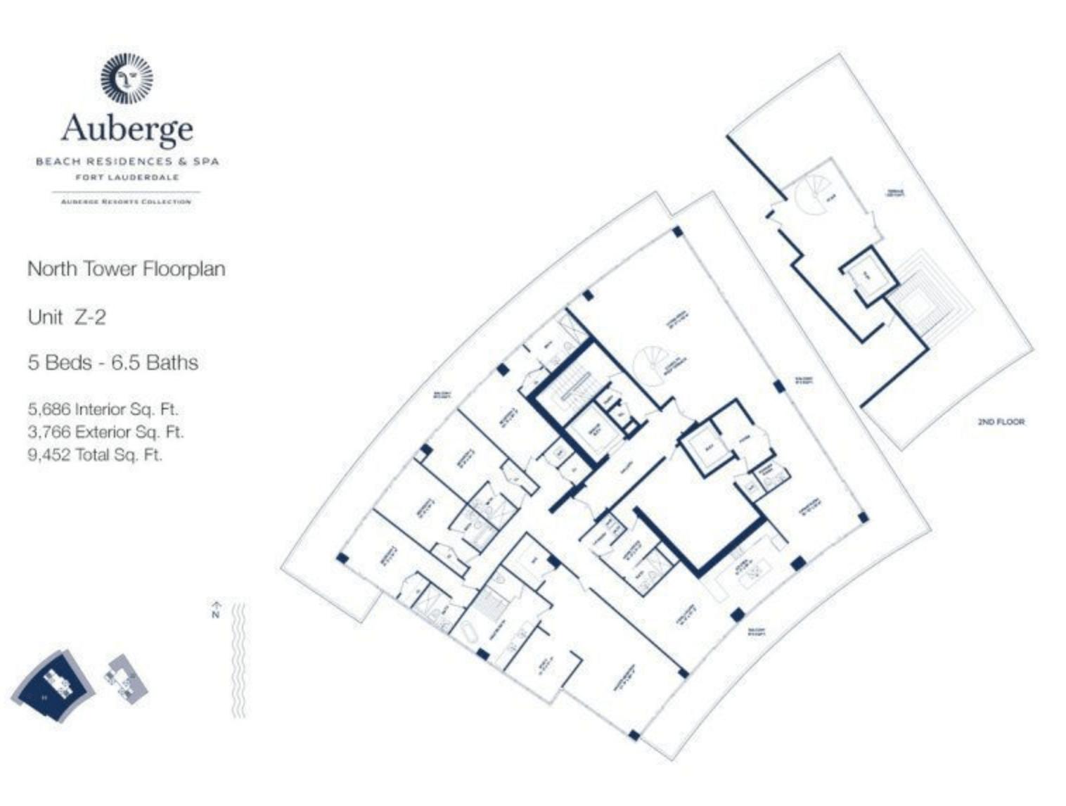 Auberge Beach Residences North Tower Z2 | 5 Beds - 6.5 baths