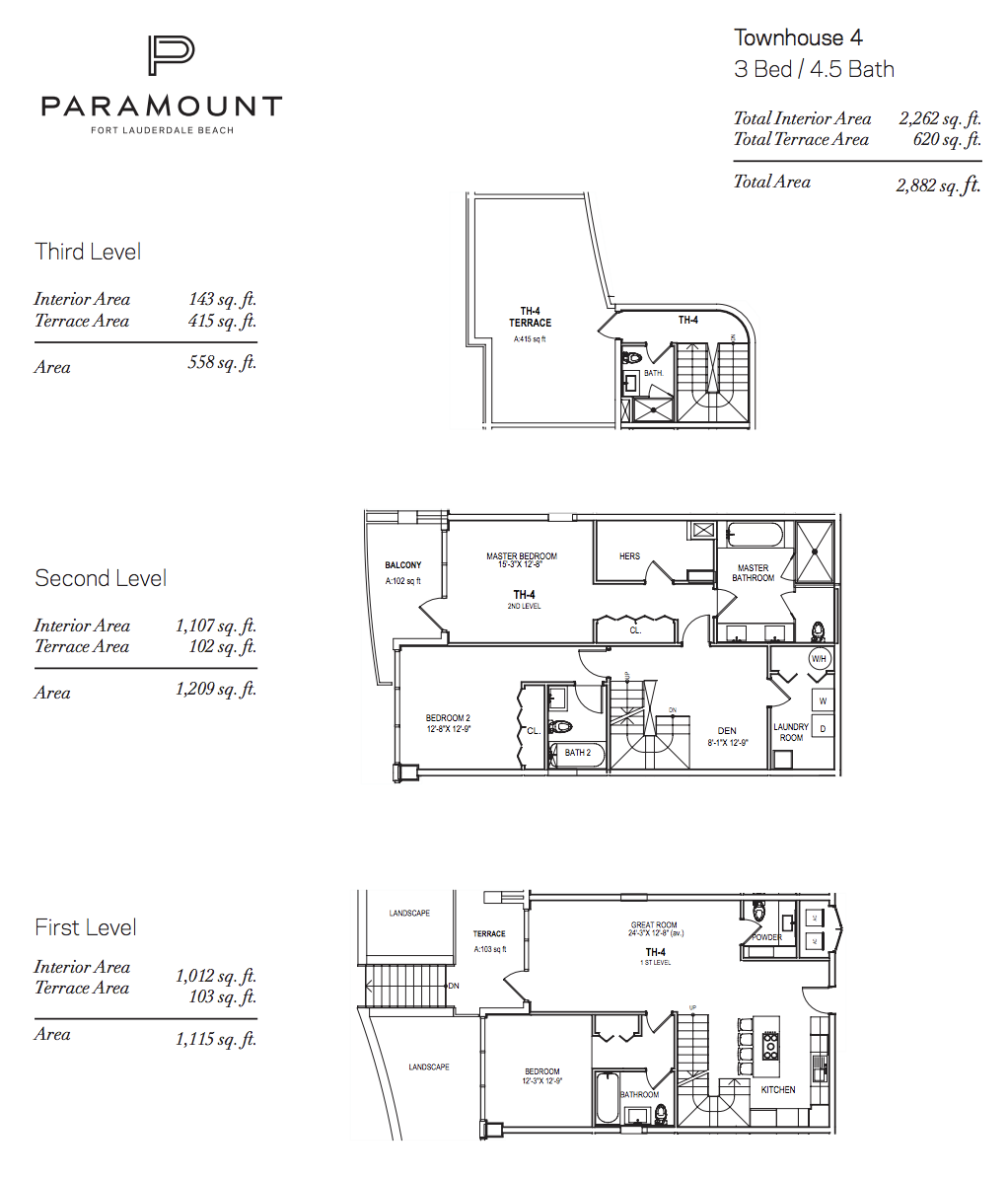 Paramount Residences Fort lauderdale Townhouse 4 | 3 Beds - 4.5 Baths