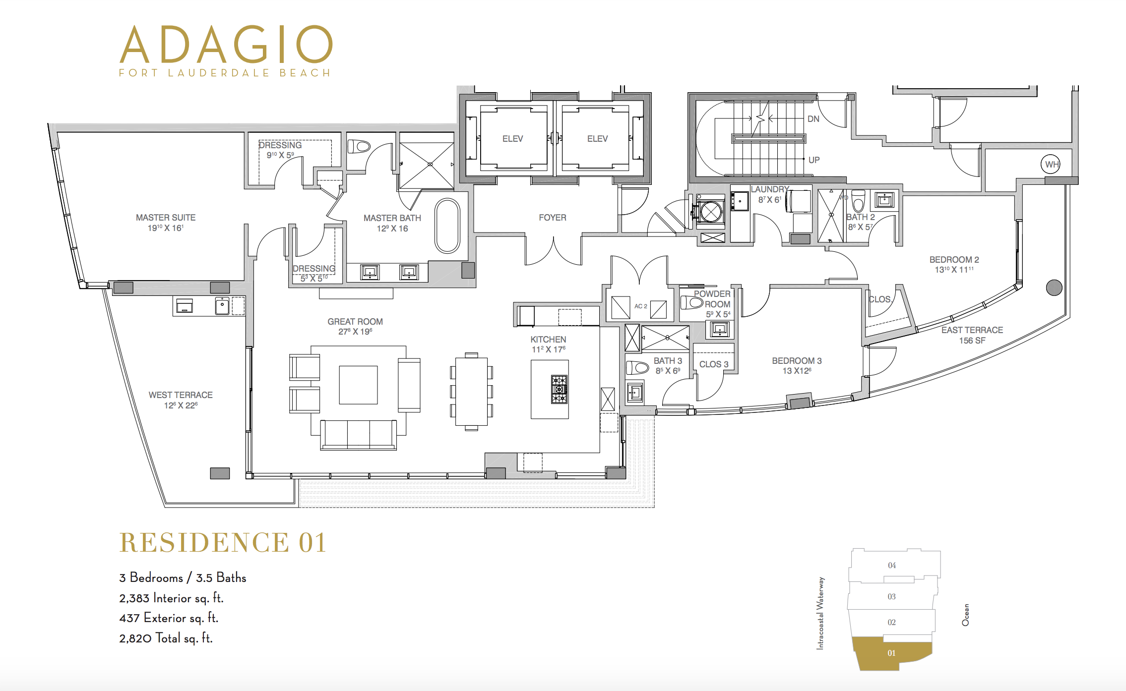 Adagio Fort Lauderdale   Residence 01