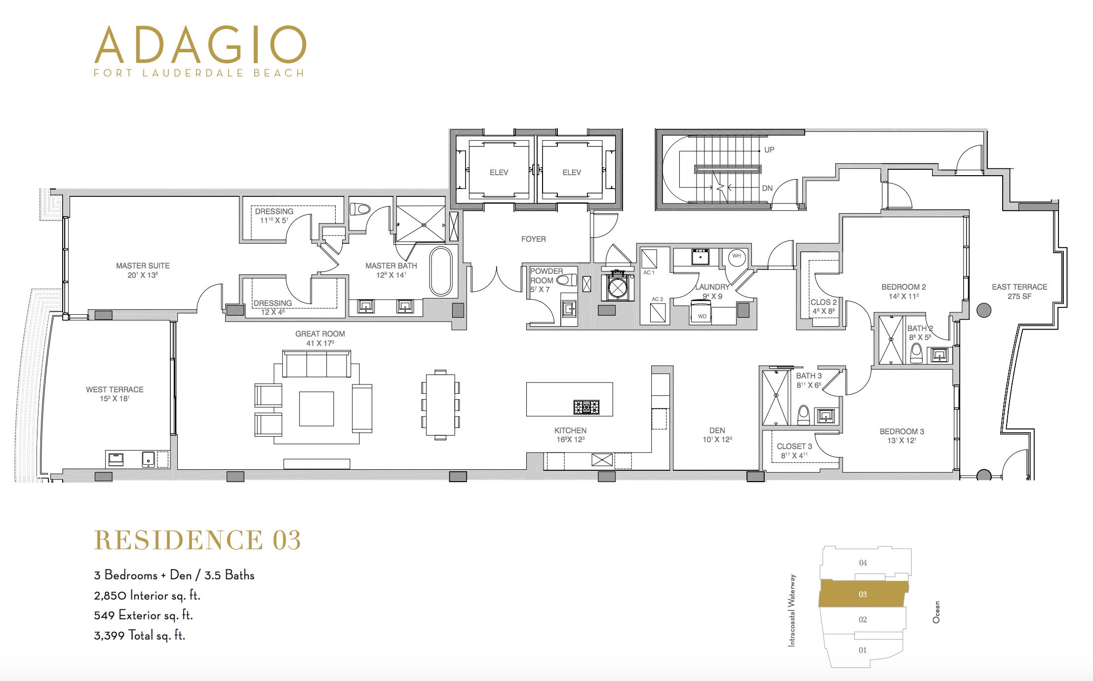 Adagio Fort Lauderdale | Residence 03