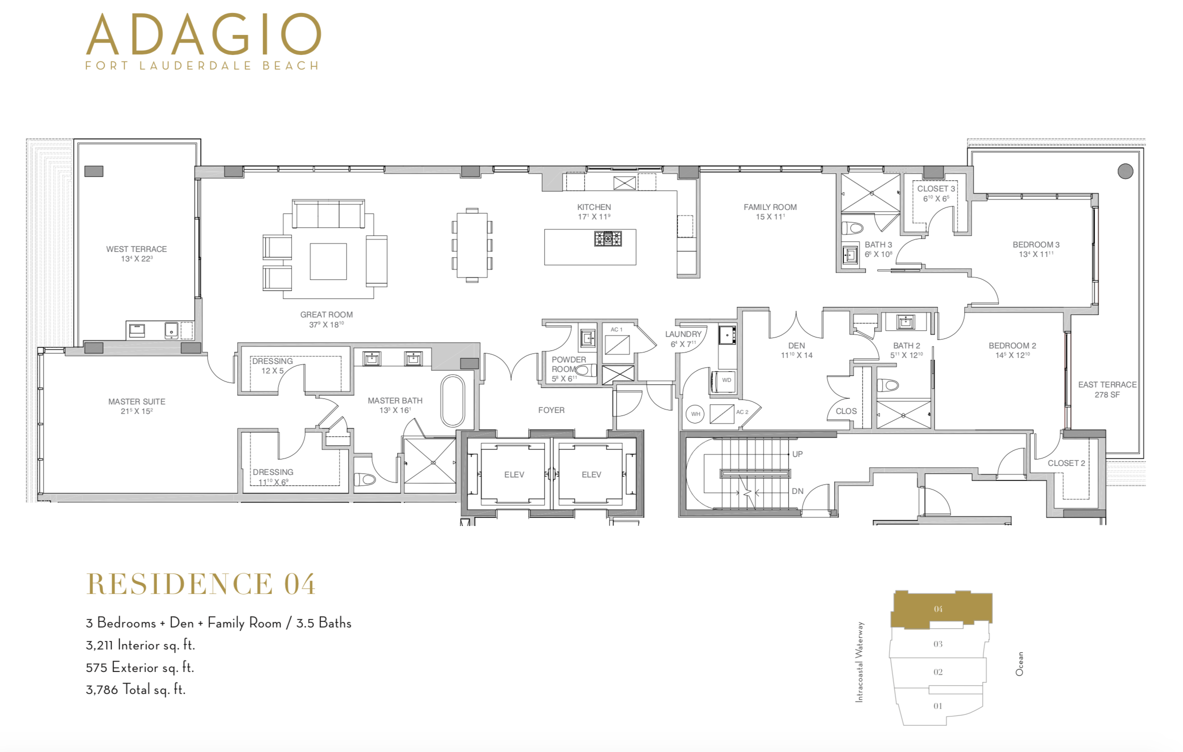 Adagio Fort Lauderdale | Residence 04Adagio Fort Lauderdale | Residence 04