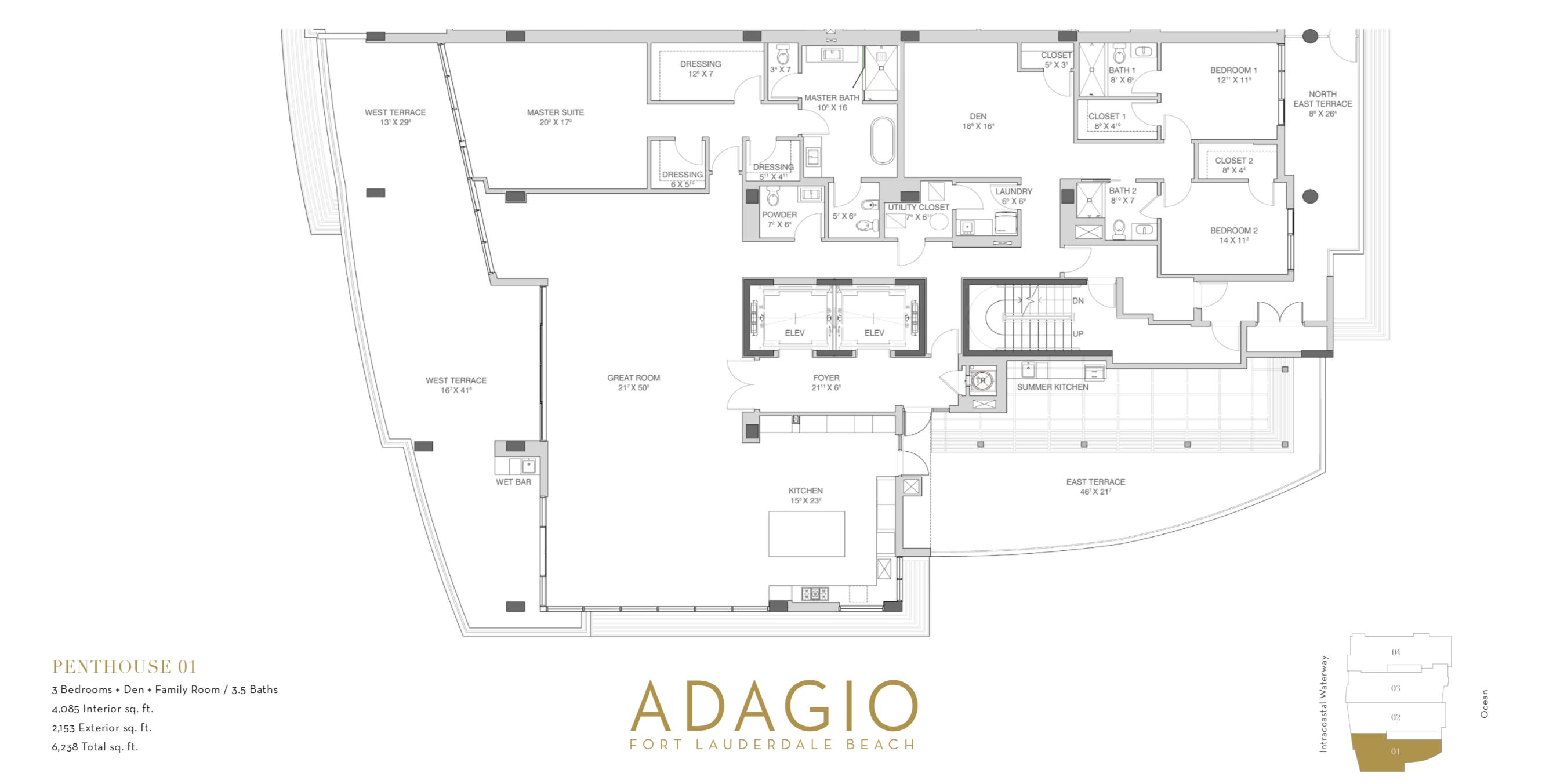 Adagio Fort Lauderdale | Penthouse