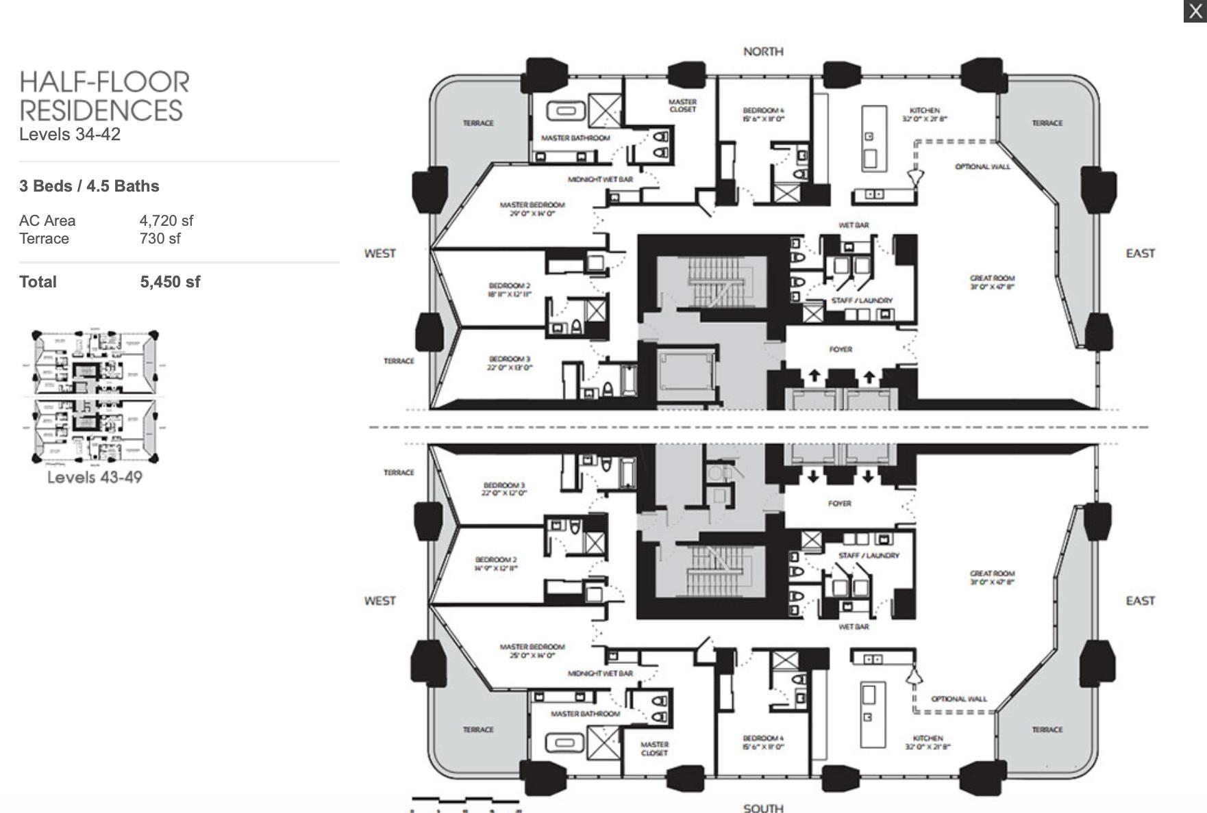 Half Floor Residences 26-33
