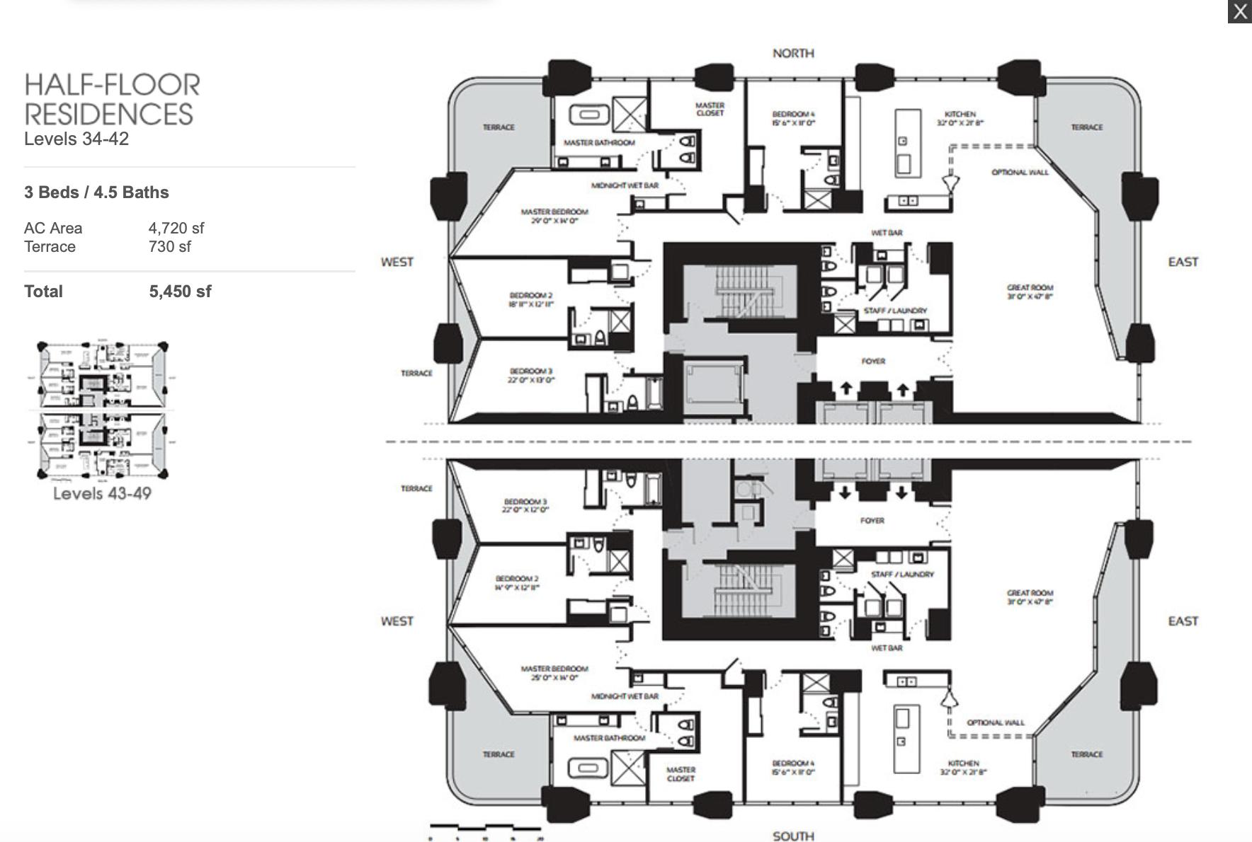 Half Floor Residences 34-49