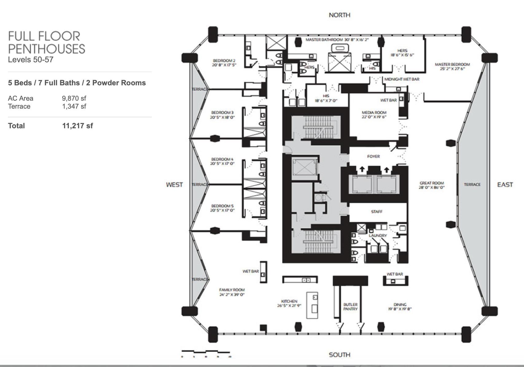 Full Floor Penthouses