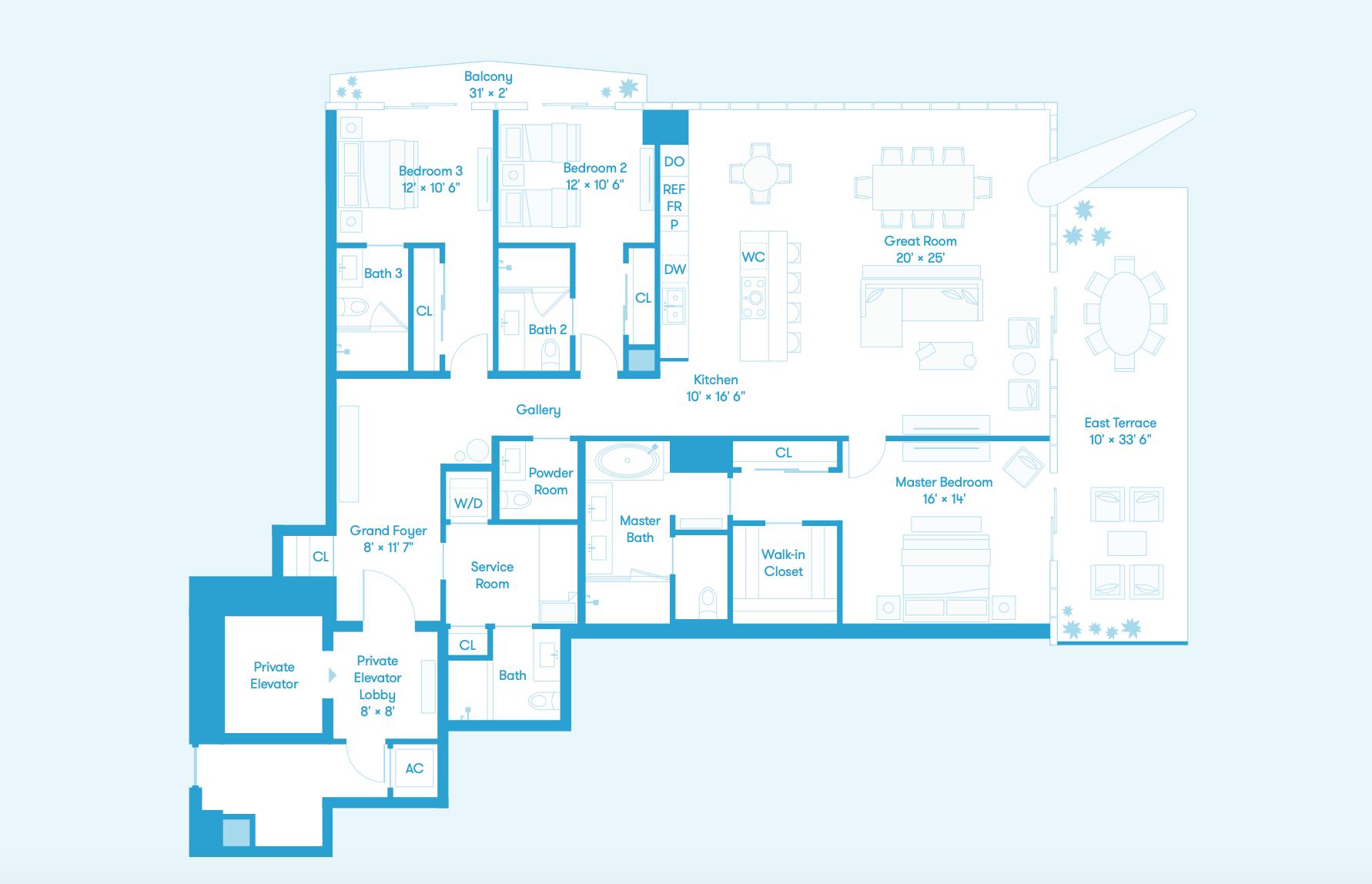 Bay Residence NE Floors 8 - 36