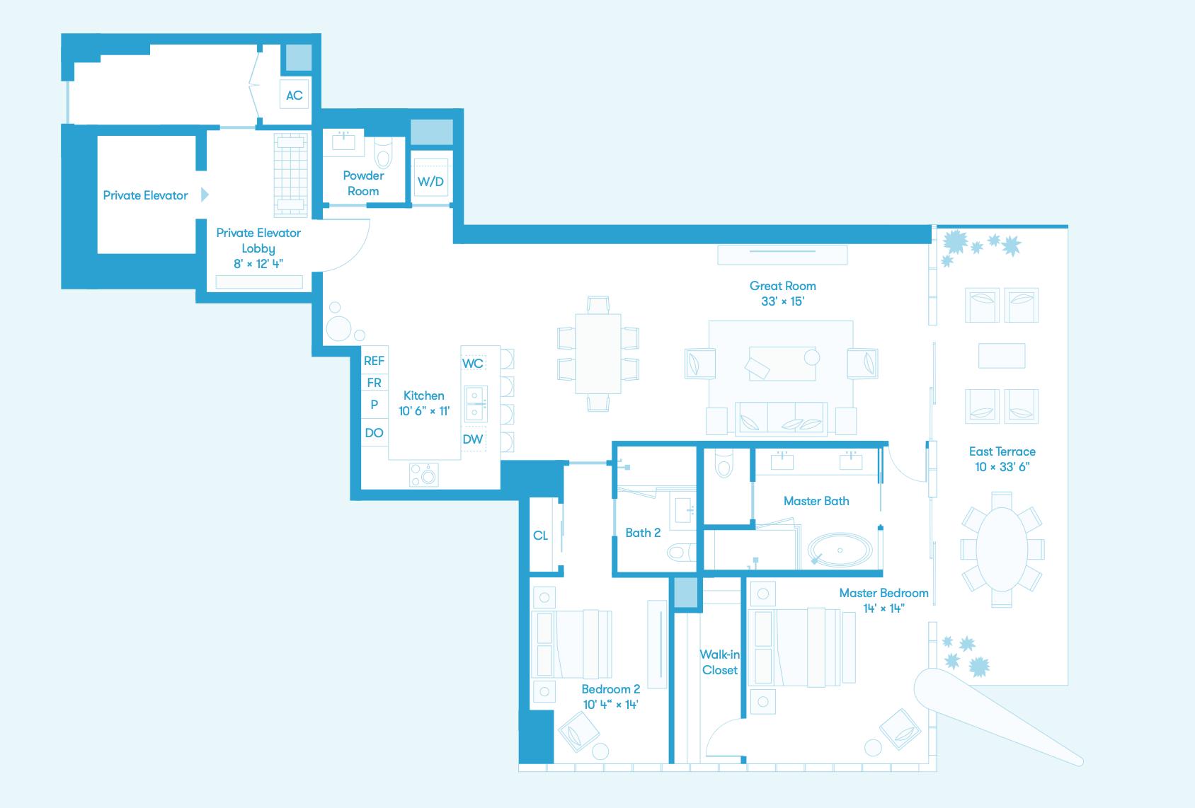 Bay Residence SE Floors 8 - 36