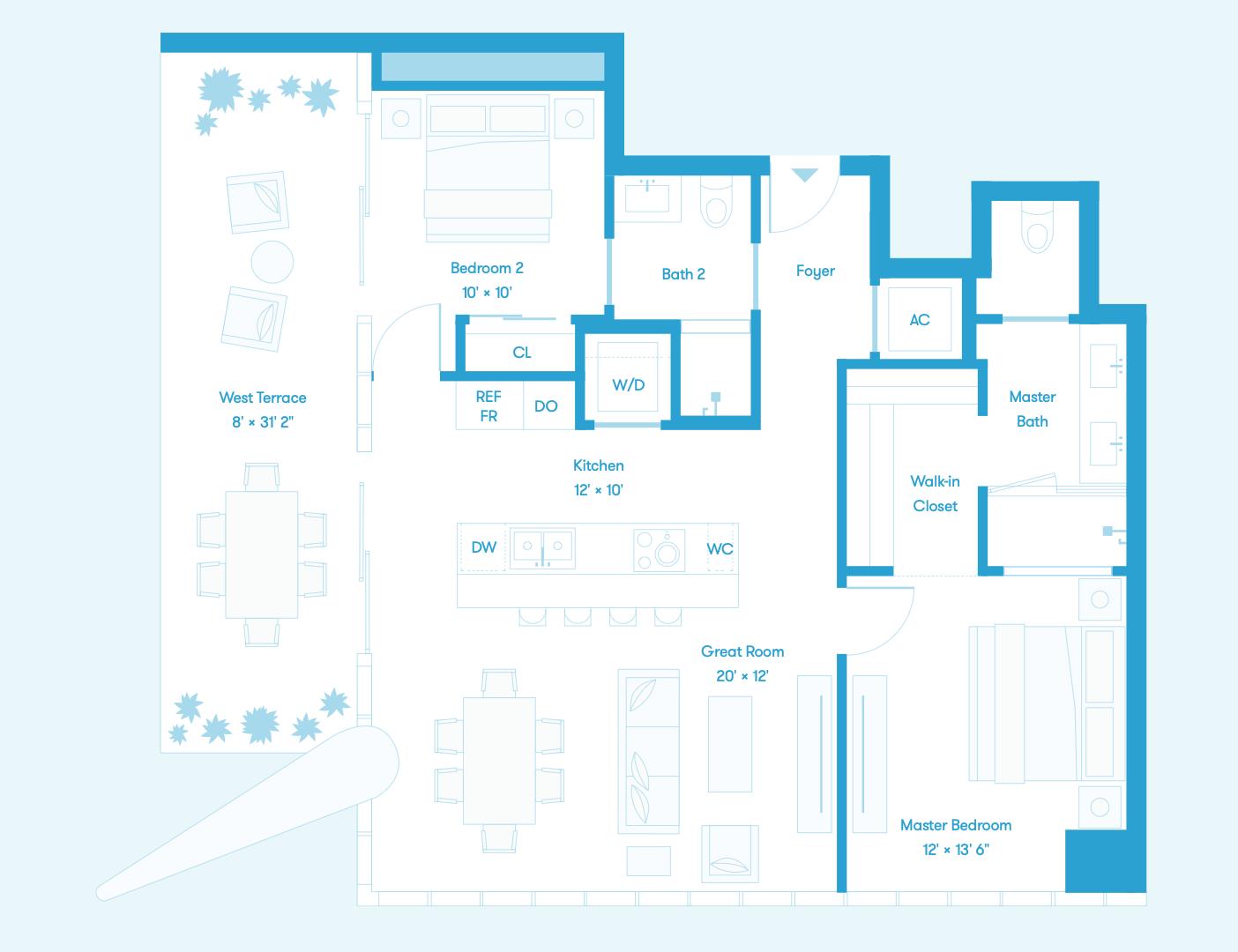 Bay Residence SW Floors 8 - 36