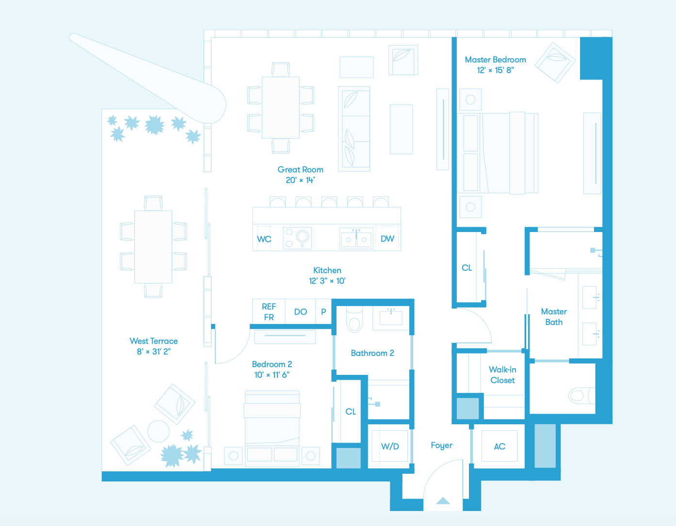Tower Residence NW Floors 38 - 56