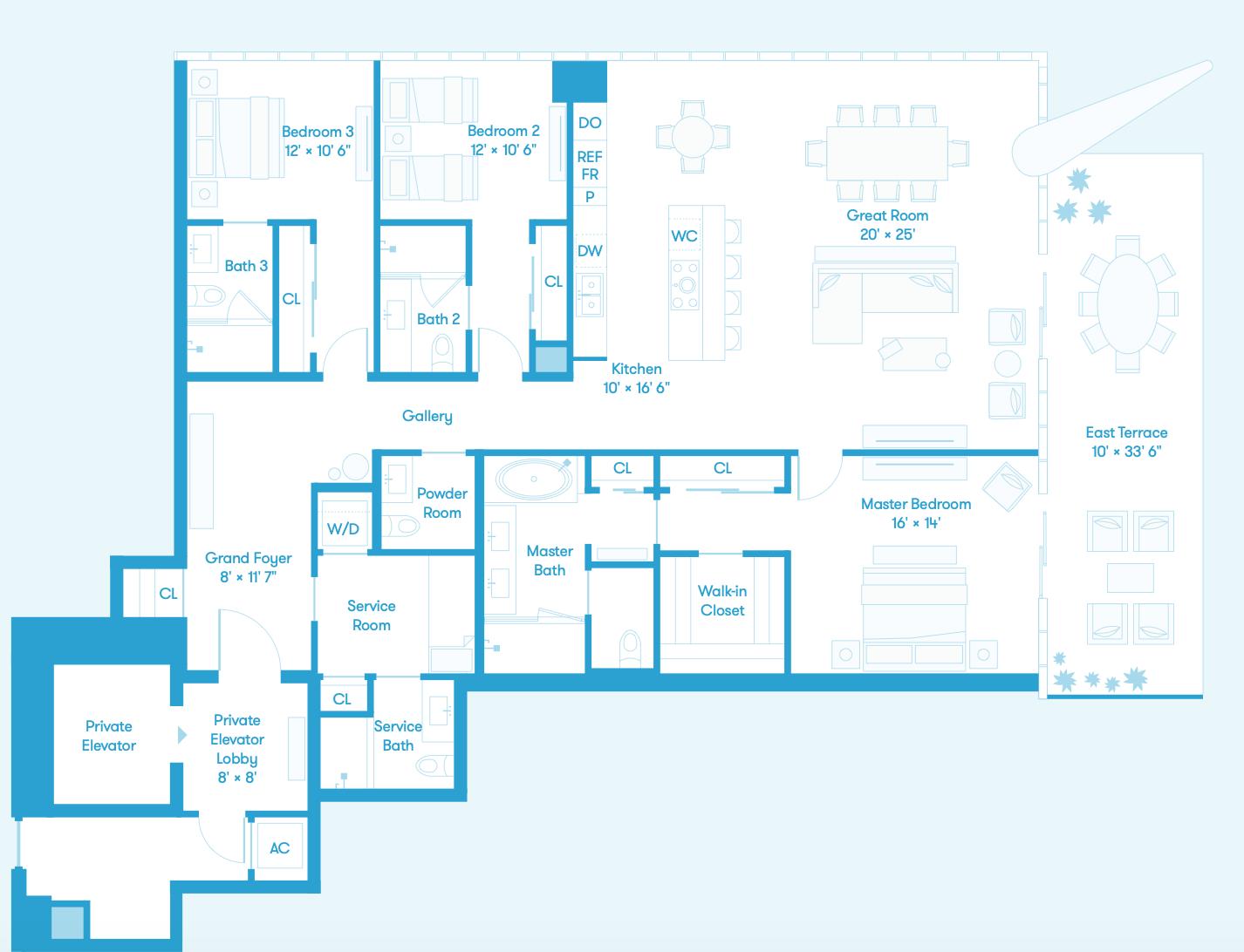 Tower Residence NE Floors 38 - 56