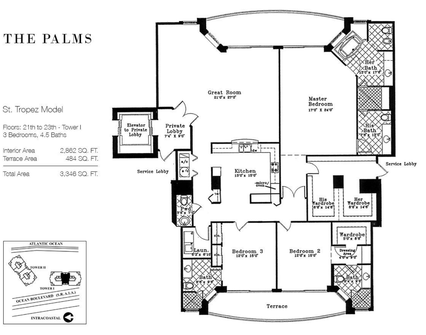 The Palms Fort Lauderdale | Floor Plan St Tropez
