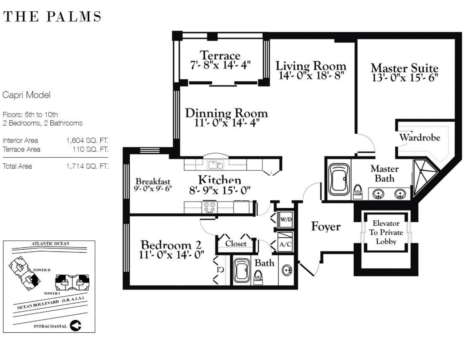 The Palms Fort Lauderdale | Floor Plan Capri