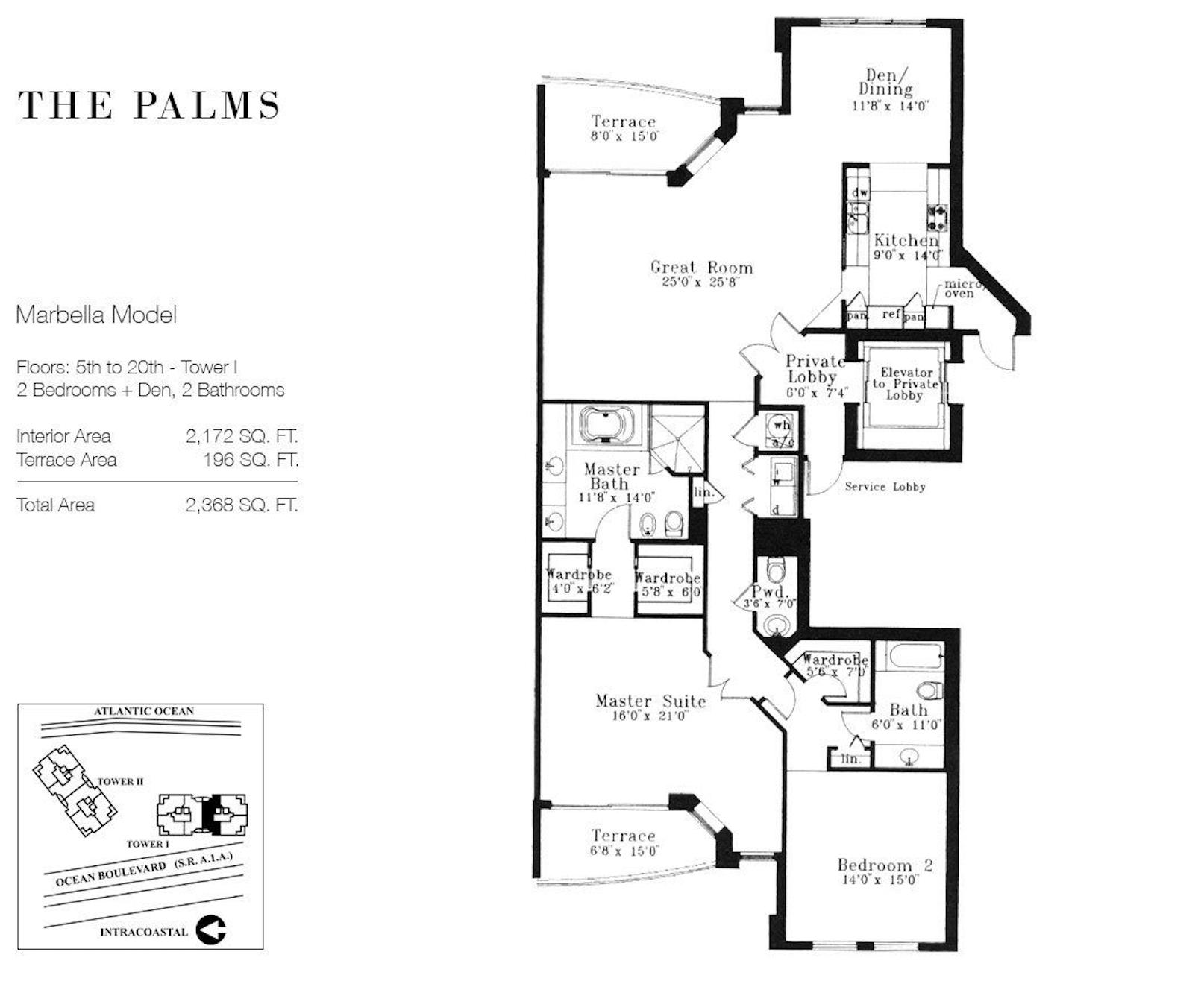The Palms Fort Lauderdale | Floor Plan Monte Carlo