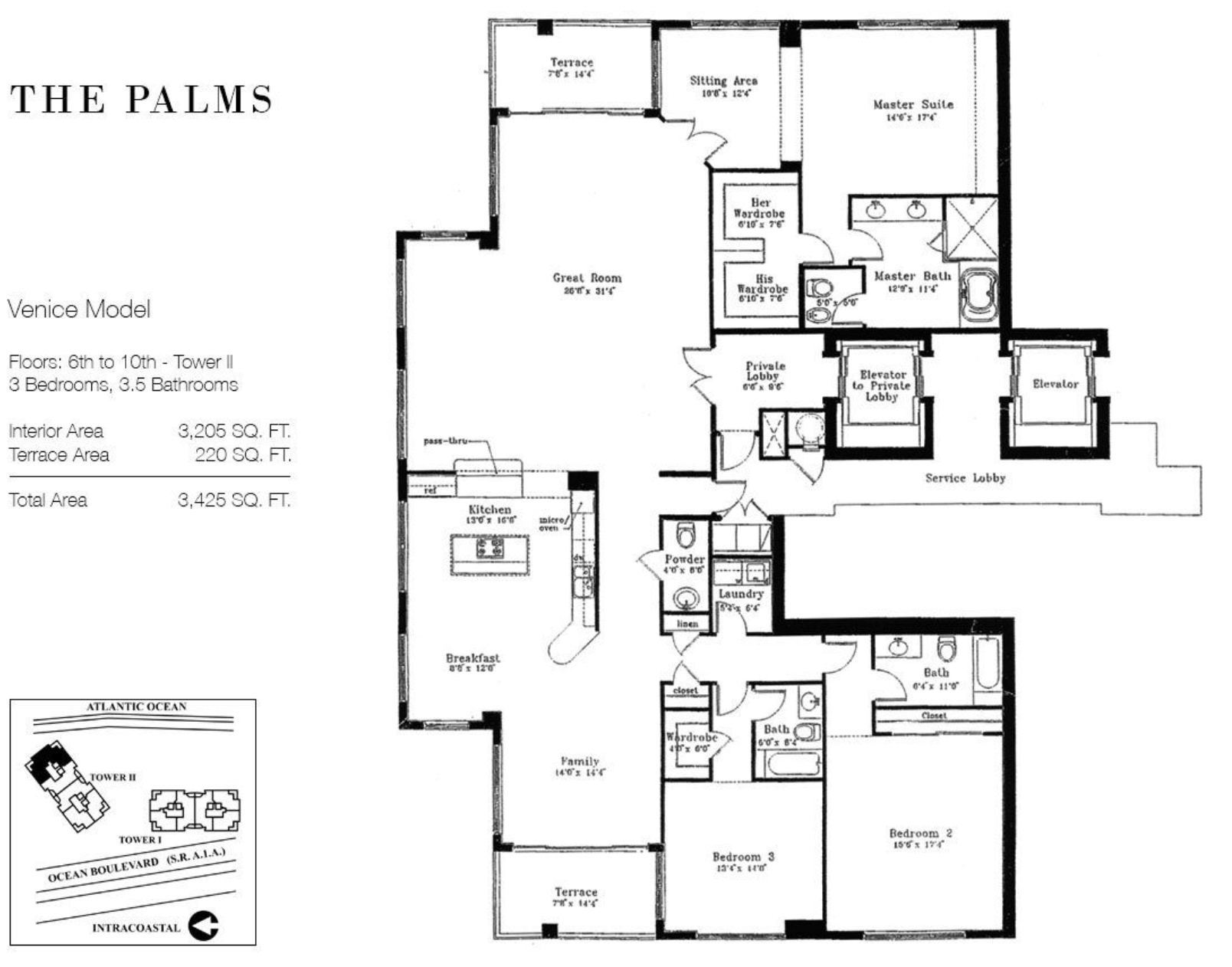 The Palms Fort Lauderdale | Floor Plan Venice