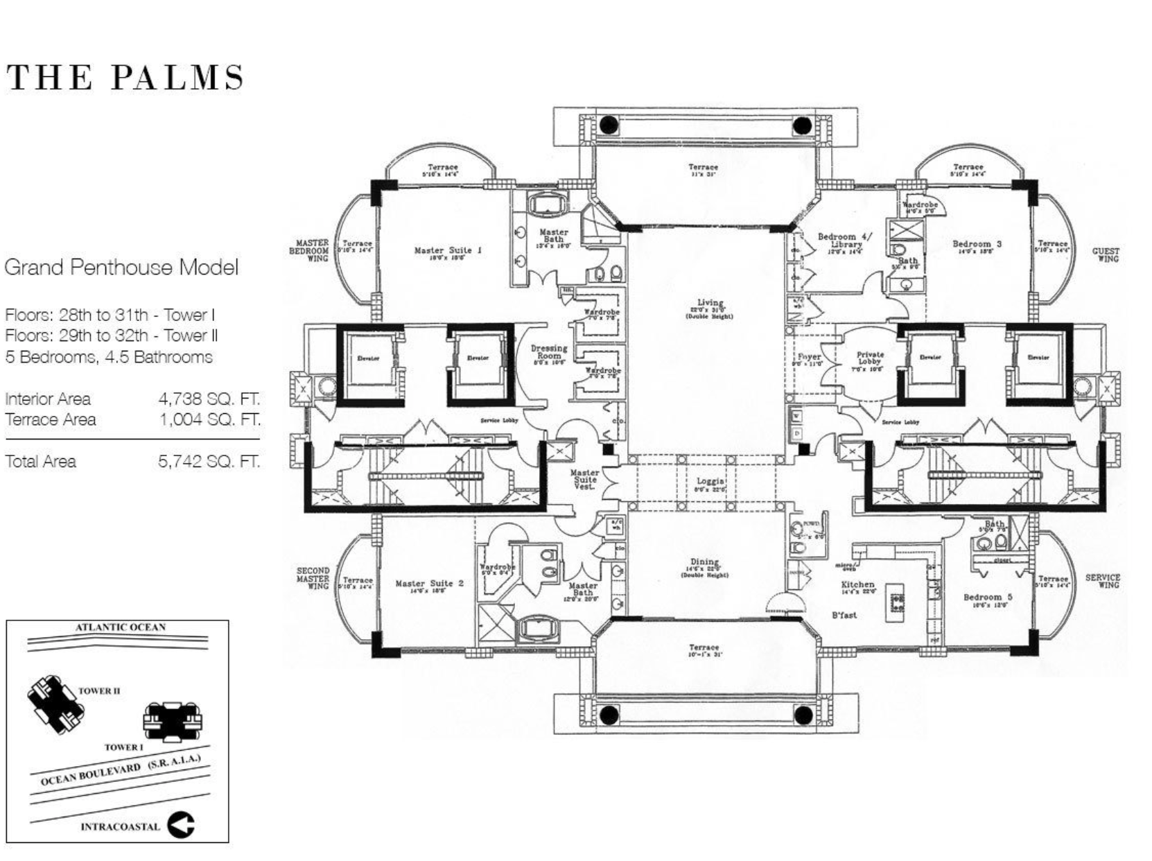 The Palms Fort Lauderdale | Floor Plan Grand Penthouse