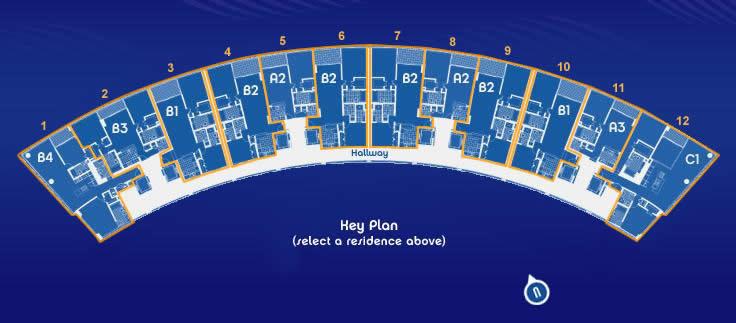 Blue Condo Miami Site Plan